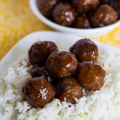 Sweet and Spicy Crockpot BBQ Meatballs