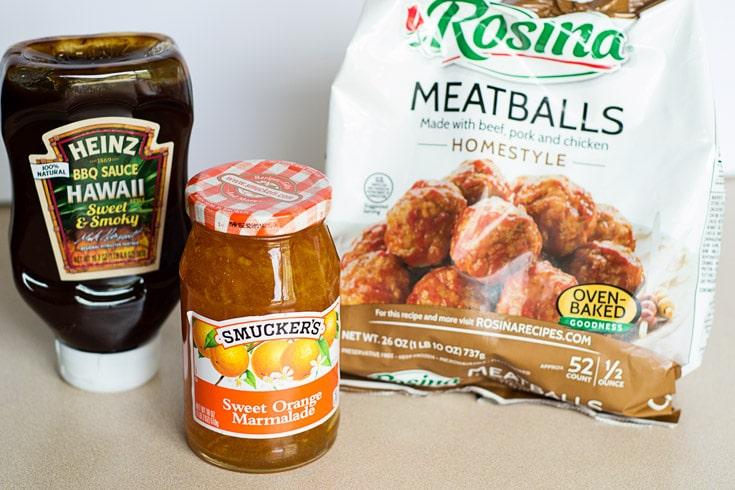Crock Pot BBQ Meatballs Ingredients