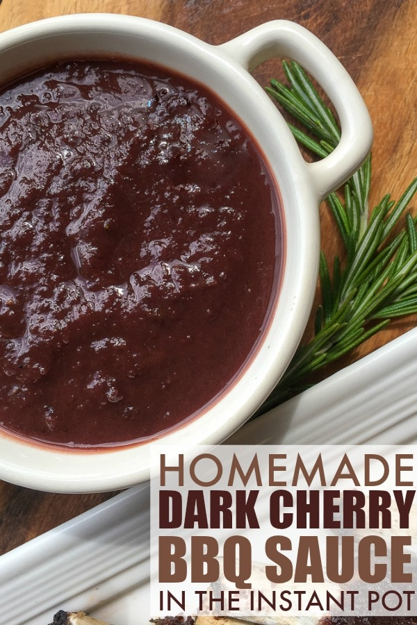 Homemade Dark Cherry Instant Pot BBQ Sauce Recipe - Great with pork!