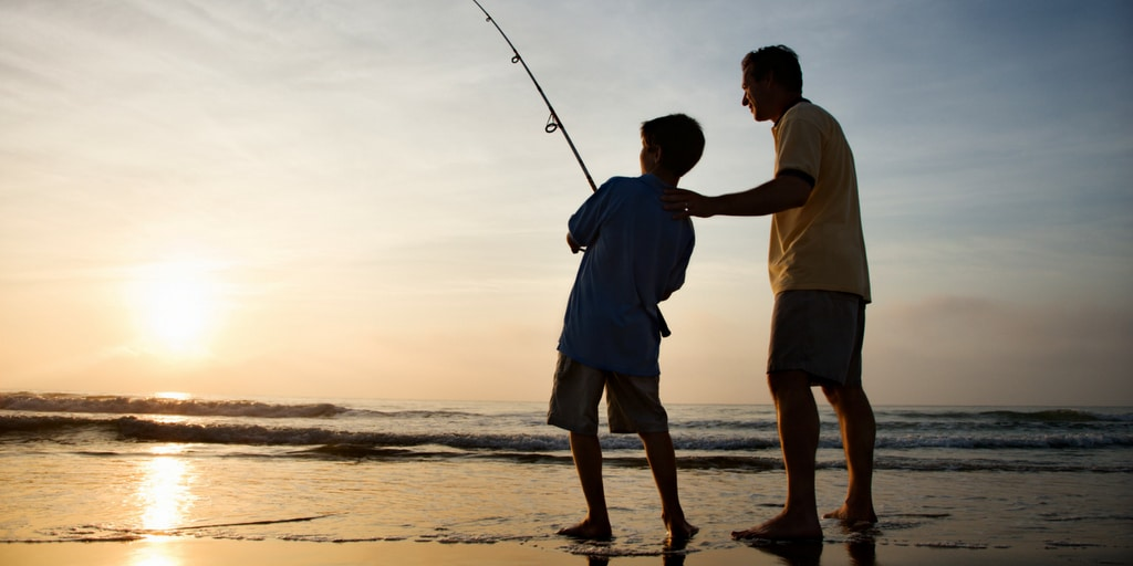 go fishing with your son